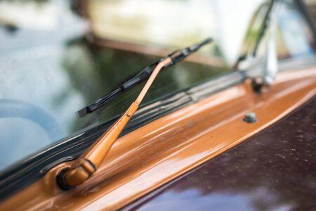 of yesteryear: Details of vintage car wiper