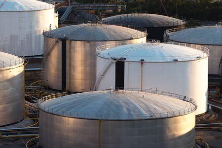 Oil storage tank in petrochemical refinery industry