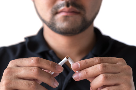 Stop smoking concept for good health