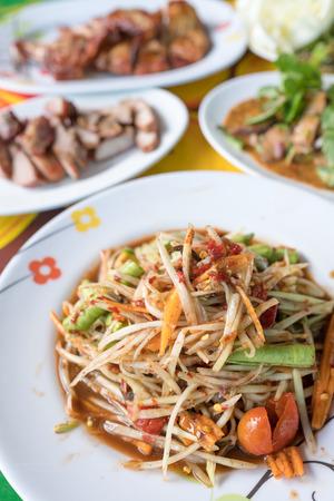 Som tom, Spicy papaya salad, Thai food