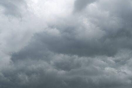 strom: Dark clouds before heavy raining Stock Photo