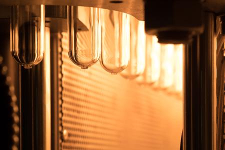 Plastic bottle making process Stock Photo