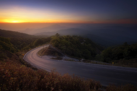 Morning view of Doi Inthanon in Chiangmai Thailand