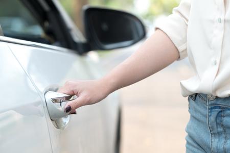 Hand open car door