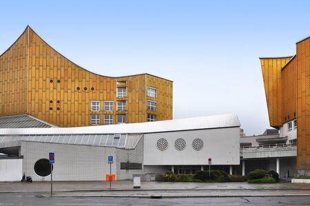Berlin, Germany - April 12, 2017: Facade of  Berlin Philharmonic building. Editorial