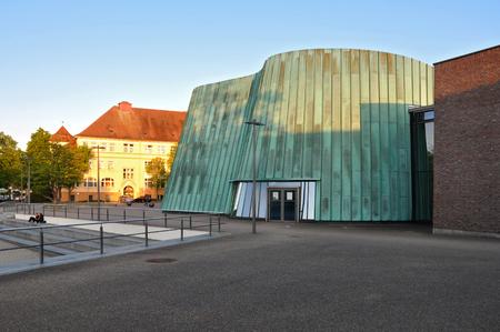 Fellbach, Baden-Wurttemberg, Germany - April 20, 2017: The modern building of the music school in Fellbach.