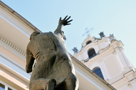 Vilnius, Lithuania - July 27, 2017: Sculpture Editorial