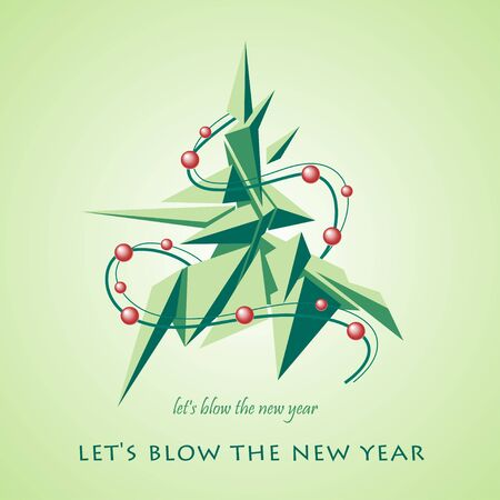 Vector Christmas and New Year illustration. The concept greeting card, poster, invitations. Illustration