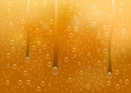 Vektorbeschaffenheit des beschlagenen Glases mit Bier und tropfenden Wassertropfen. Für Bierfest, Werbung. Verlaufsgitterhintergründe.