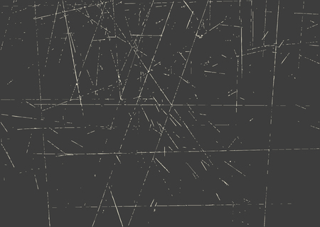 Vector grunge texture for background. Dark surface with traces of cuts.