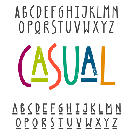Two modern alphabets. Uppercase and underlined lowercase letters for trendy design.