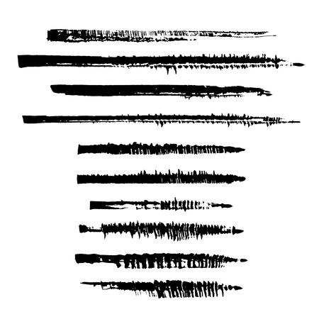 Vector collection of cola-pen strokes.