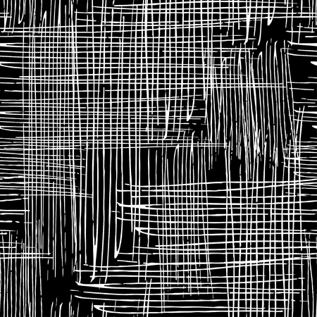 Vector seamless grunge texture of the intersecting lines. Stock Illustratie