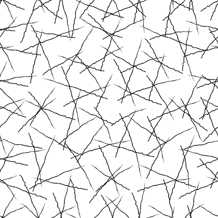Vector grunge seamless texture of hand-drawn intersecting trembling lines. Illustration
