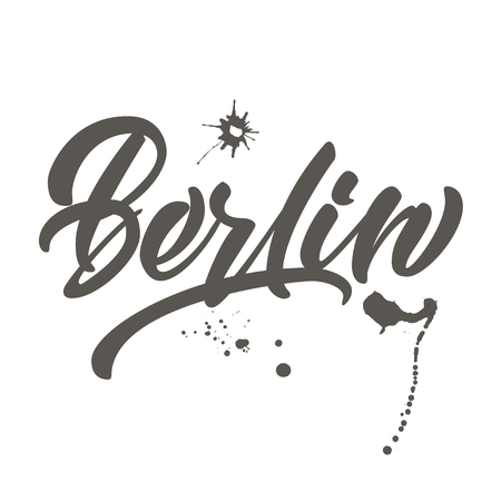 Vector handwritten lettering Berlin for cards, posters, prints.