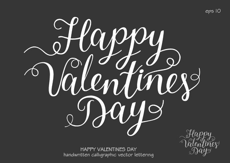 Vector Font composition Happy Valentines Day. Letters of heart with stitches. Concept for sticker, t-shirt and card.