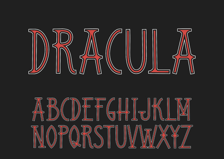 Dracula in the Art Nouveau style. Illustration