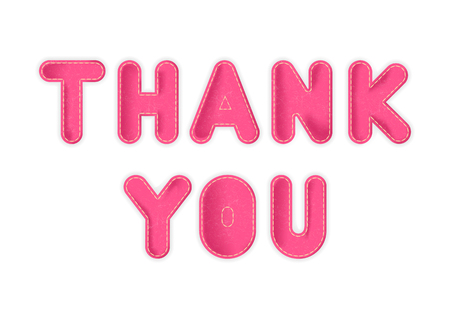 Vector toy letters Thank you made of pink fabric. Illustration