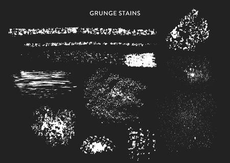 Vector set of handmade grunge stains, imprints.