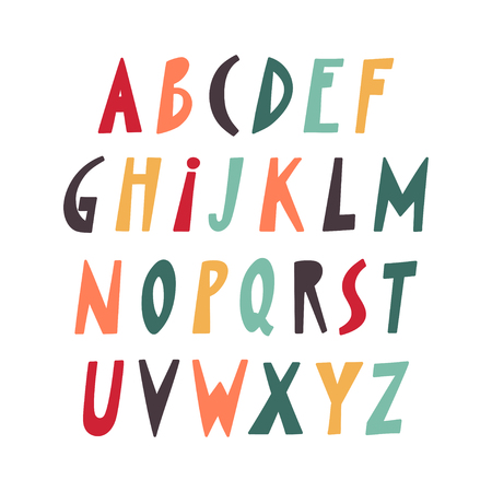 Vector papercut colorful uppercase alphabet.
