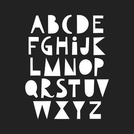 Vector papercut uppercase alphabet.