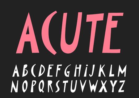 Vector papercut uppercase alphabet on black background Illustration