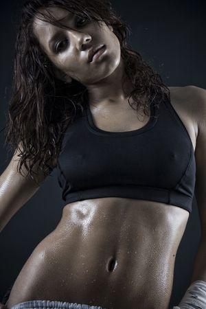 pezones: hermoso cuerpo de fitness