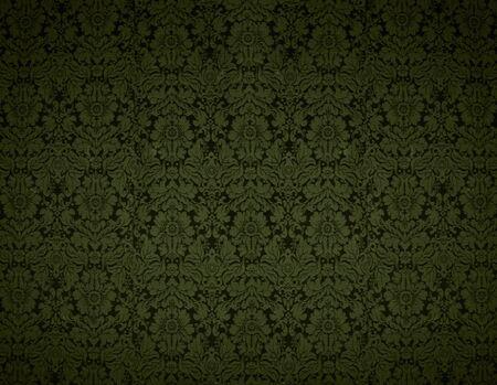 Seamless Gothic Damask yellow wallpaper background photo