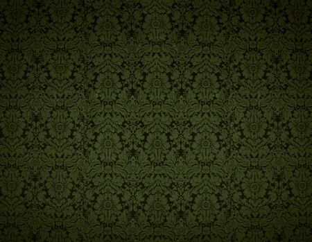 Seamless Gothic Damask yellow wallpaper background Stock Photo - 4944959