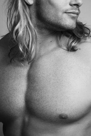 black and white male sexy torso Stock Photo - 4967210