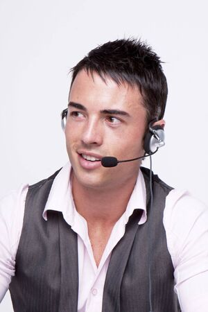 young, handsome,smiling customer service operator Stock Photo - 5011442