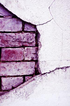 suffusion: old brick broken pink  wall Stock Photo