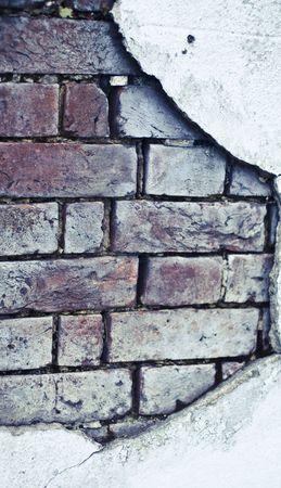 suffusion: old brick broken  wall