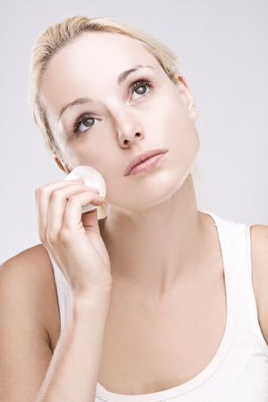 cleanser: Beautiful blonde removing facial make-up