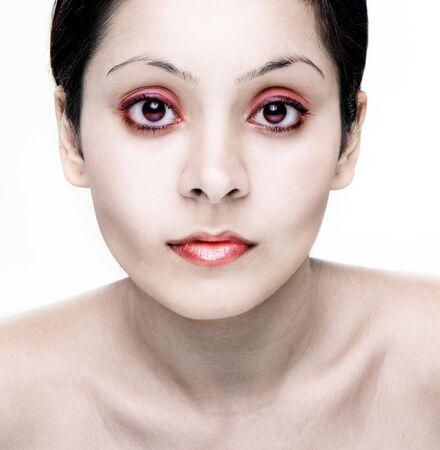 Zombie beauty pale girl photo