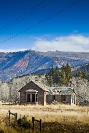 An abandoned wooden house in the mountains in Colorado Stock Photo - 6122117
