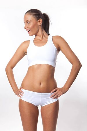 Smiling young athletic fitness woman Stock Photo - 7726593