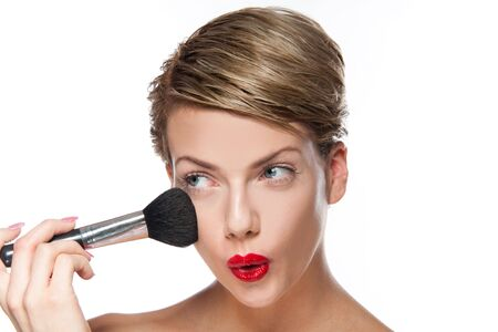 Sexy young woman doing makeup Stock Photo - 8269450