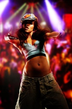 nice girl:  young nice girl dancing modern dances