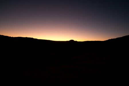 Night landscape silhouette , vison photo with a big contrast - text space photo