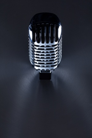 Retro Mic background with the space for text