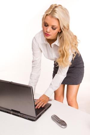 sexy business women: Sexy Business women using her laptop
