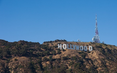 hollywood hills: hollywood hills , route to the famous sign in los angeles