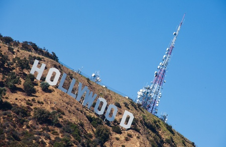 hollywood sign close view