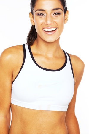 wellfare: Health And Vitality, a beautiful laughing girl with a wide smile and perfect white teeth.