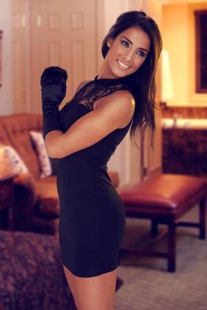 beautiful sexy brunette woman Stock Photo