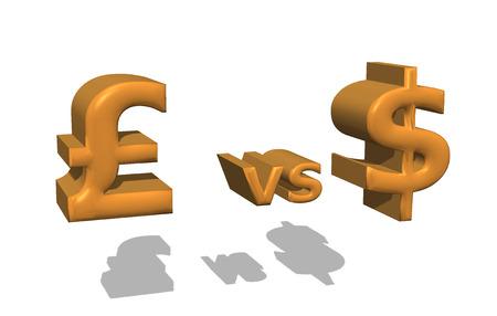 versus: dollar versus pound currency war stock exchange