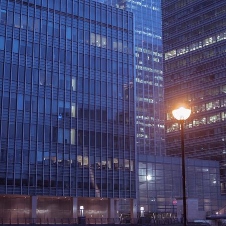 wharf: Office Buildings in Canary Wharf, London