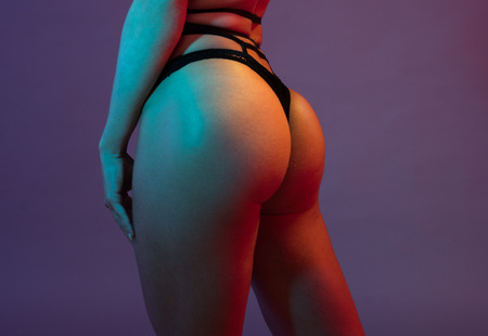 perfect: woman buttocks after doing squats