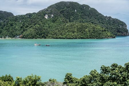 sea view: View on a beautiful sea and paradise island in Thailand